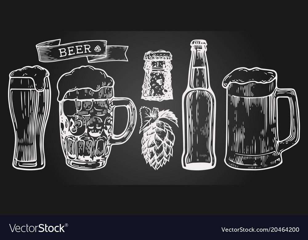 Beer setn vector image