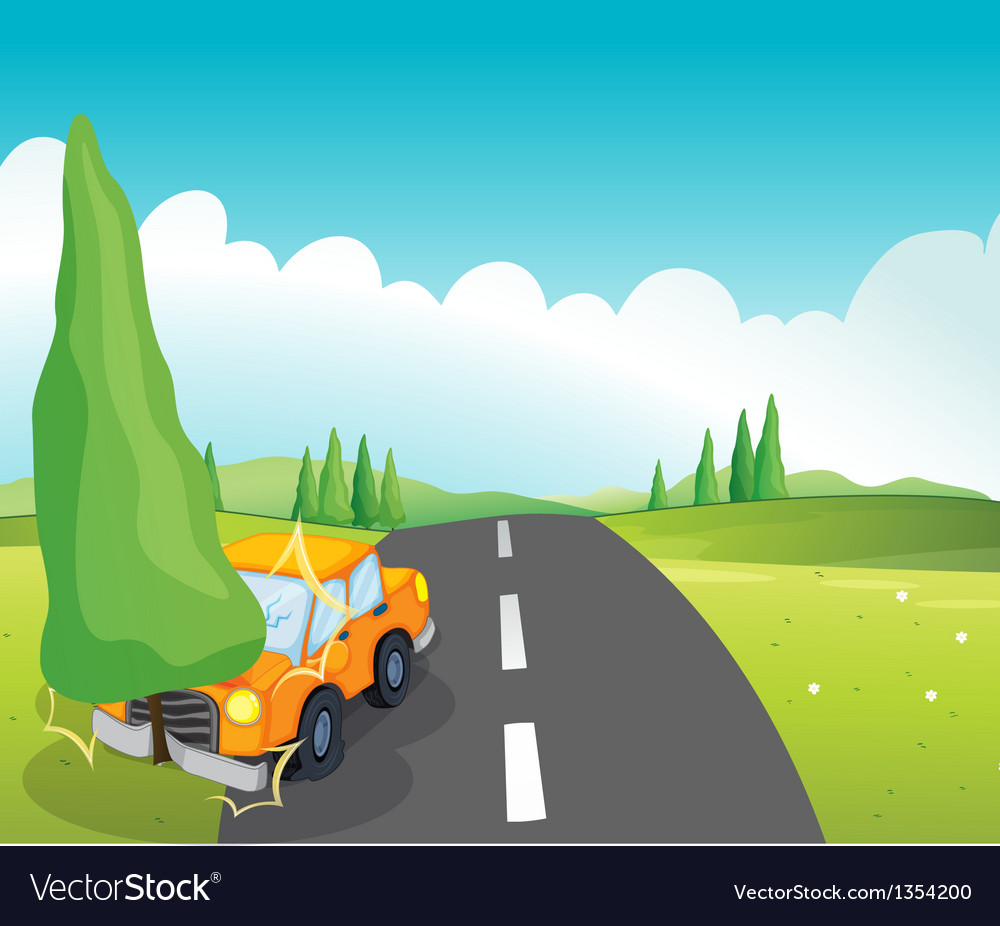 Cartoon Car Crash Royalty Free Vector Image - VectorStock