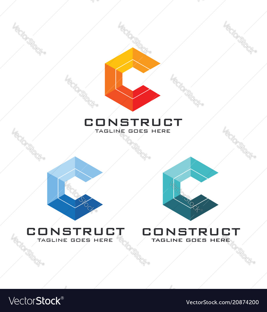 Construct logo template image
