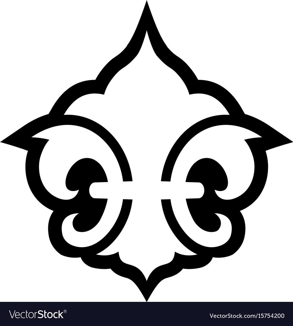 Fleur De Lis Symbol Royalty Free Vector Image Vectorstock