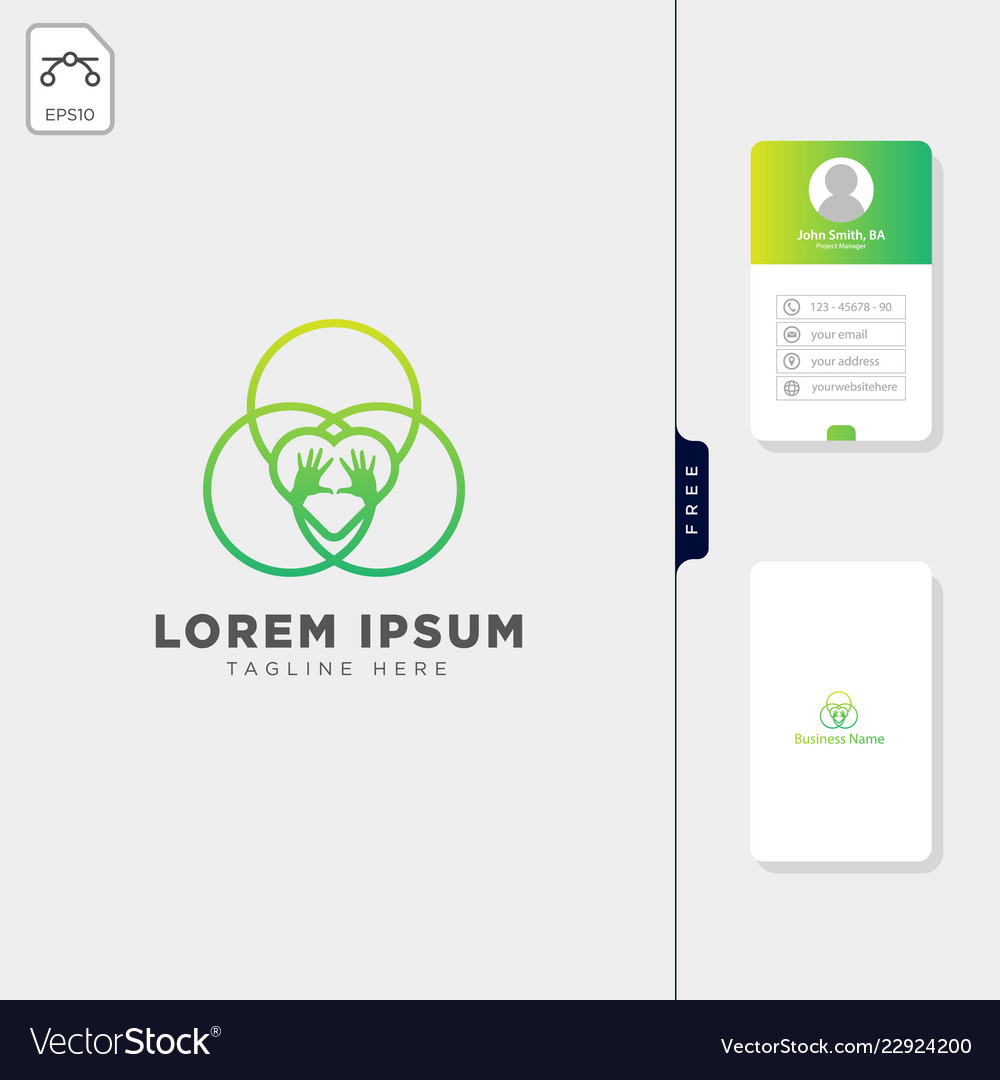 Group team care hand logo template free business