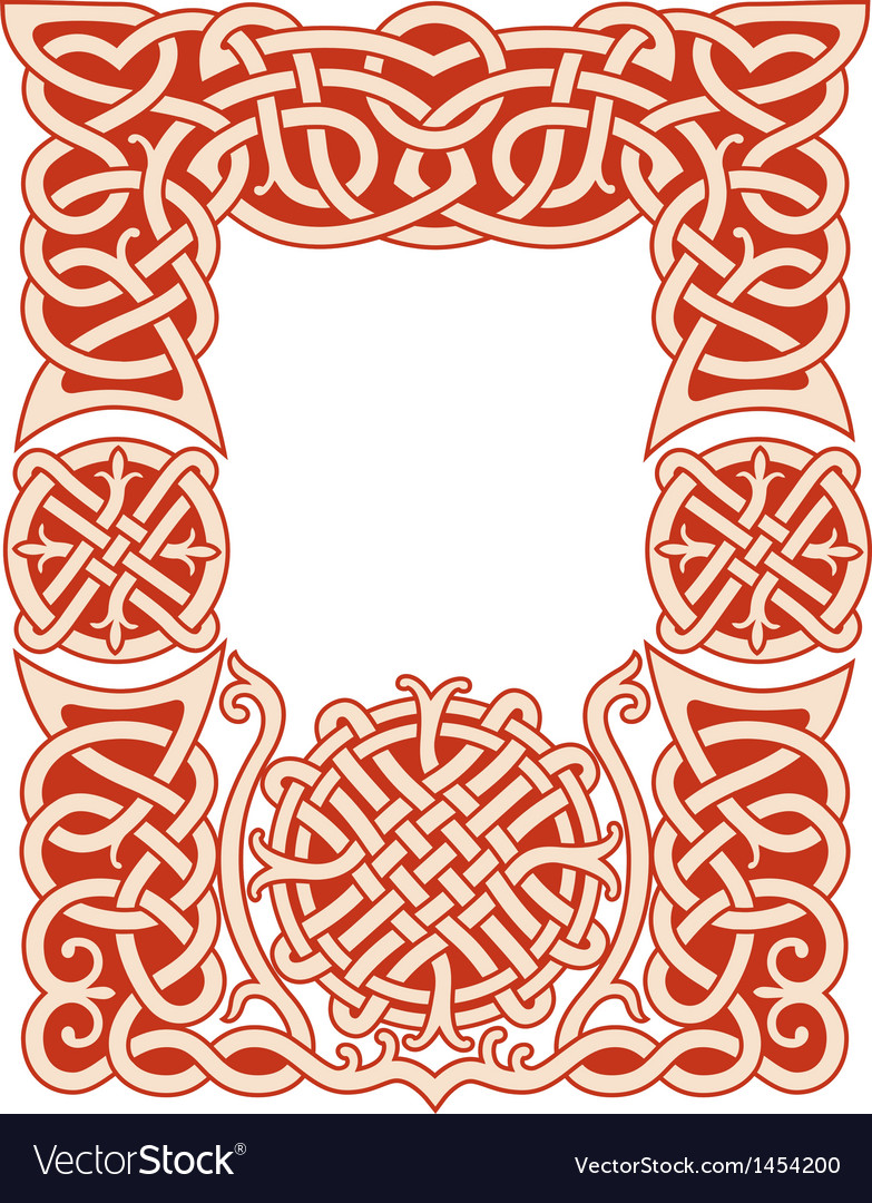 Nordic frame pattern vector image