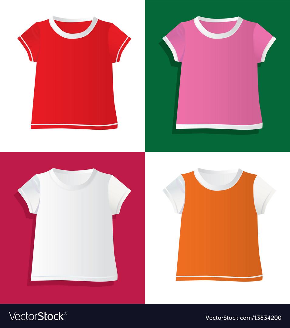 T-shirts and waistcoat vector image