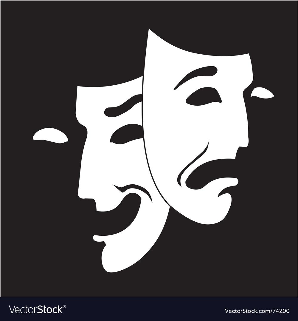theatre mask clipart. theatre masks outline