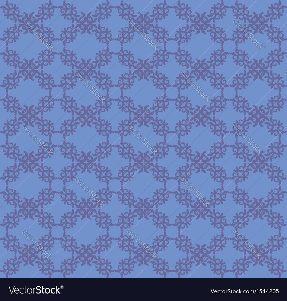 Blue flourish pattern background vector image