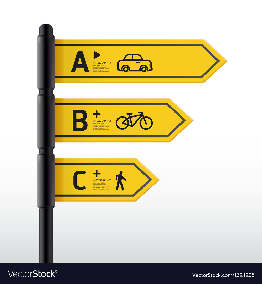 Modern Road Sign Design Template Royalty Free Vector Image