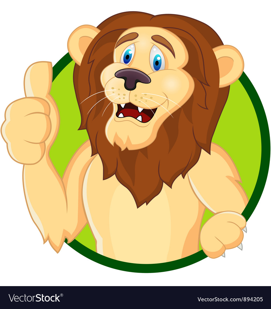 Smiling lion cartoon