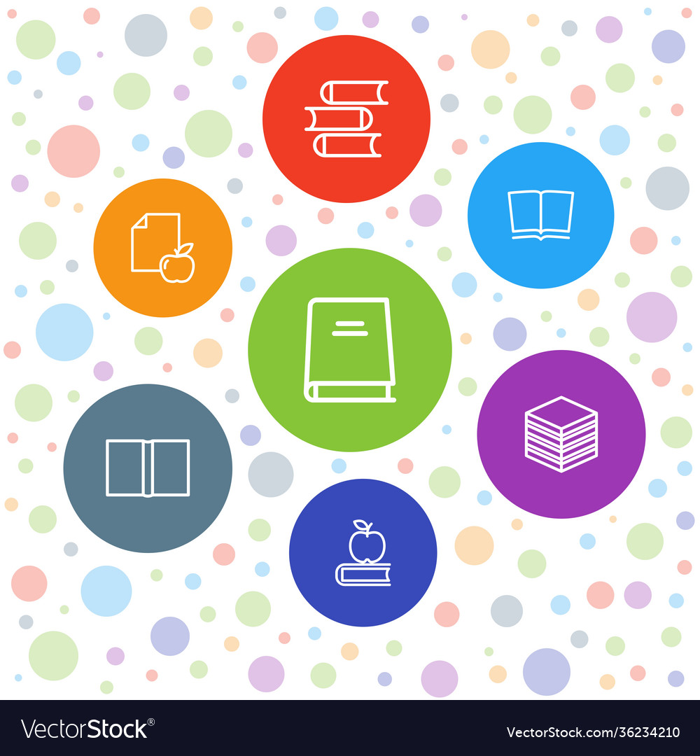 7 library icons
