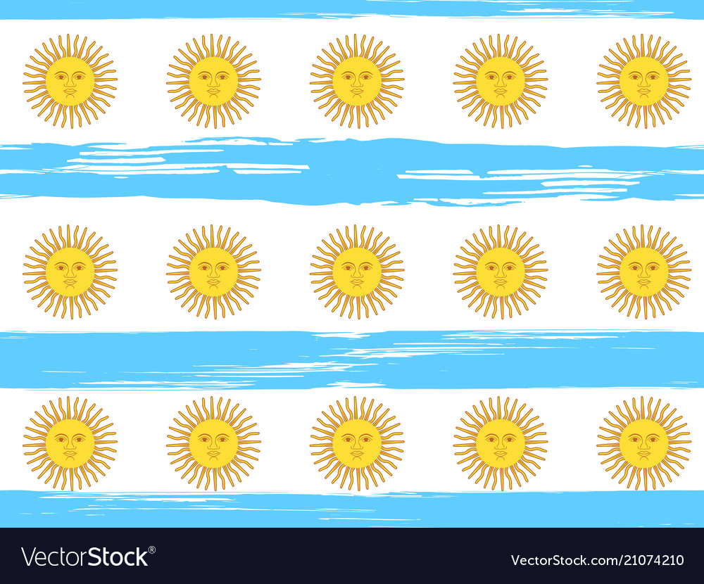 Argentina independence day seamless pattern