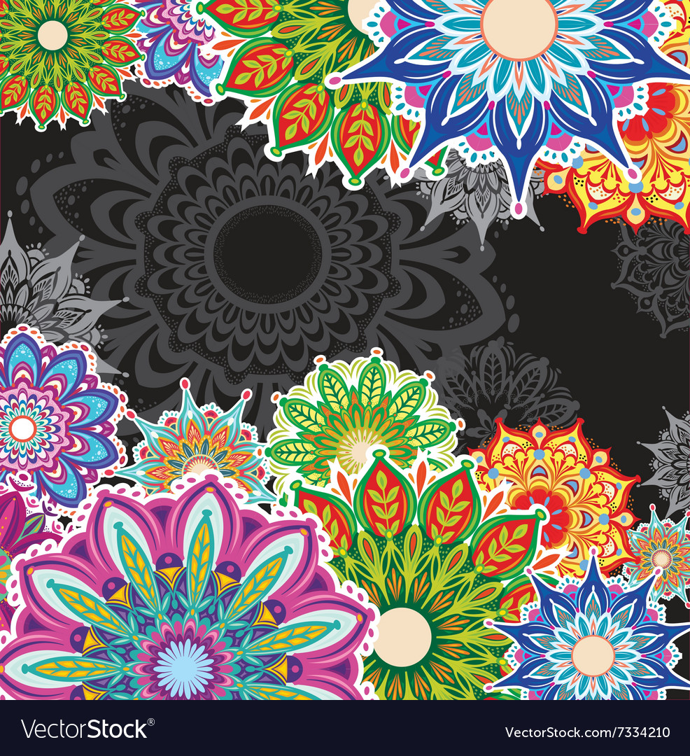 Background with round patterns vector image