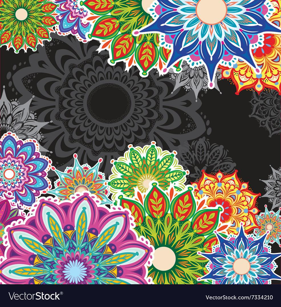 Background with round patterns