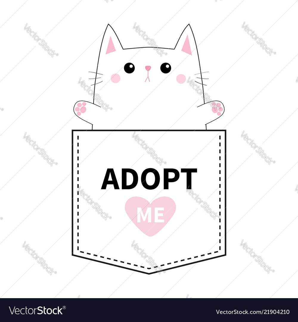 Cat pocket paw print adopt me pink heart cute