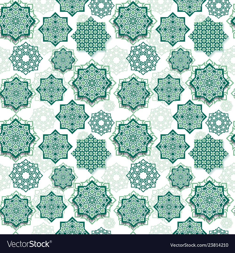 Festival graphic of islamic geometric art