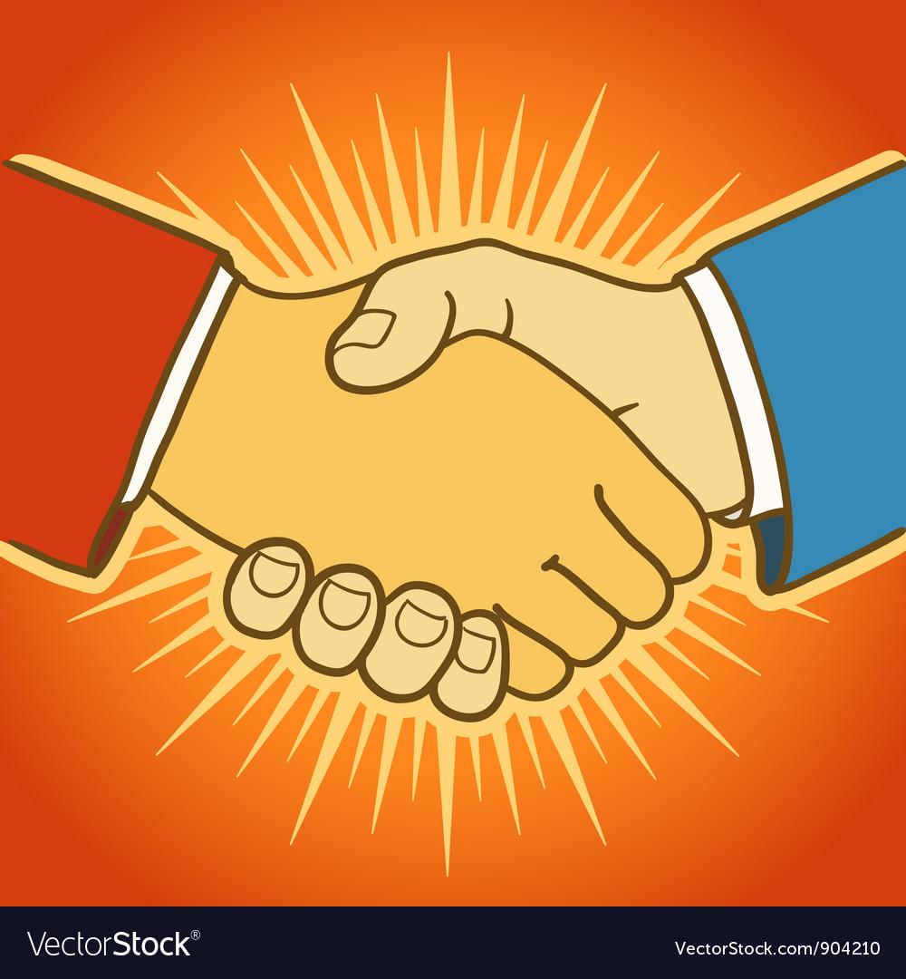 shaking hands royalty free vector image vectorstock