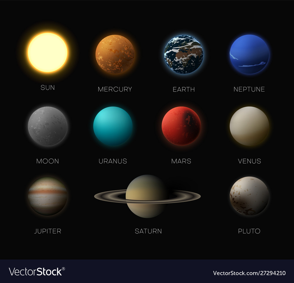 Solar system planets realistic