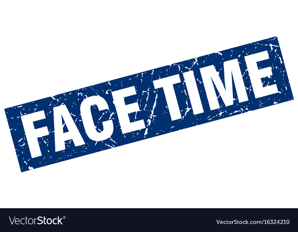 Square grunge blue face time stamp