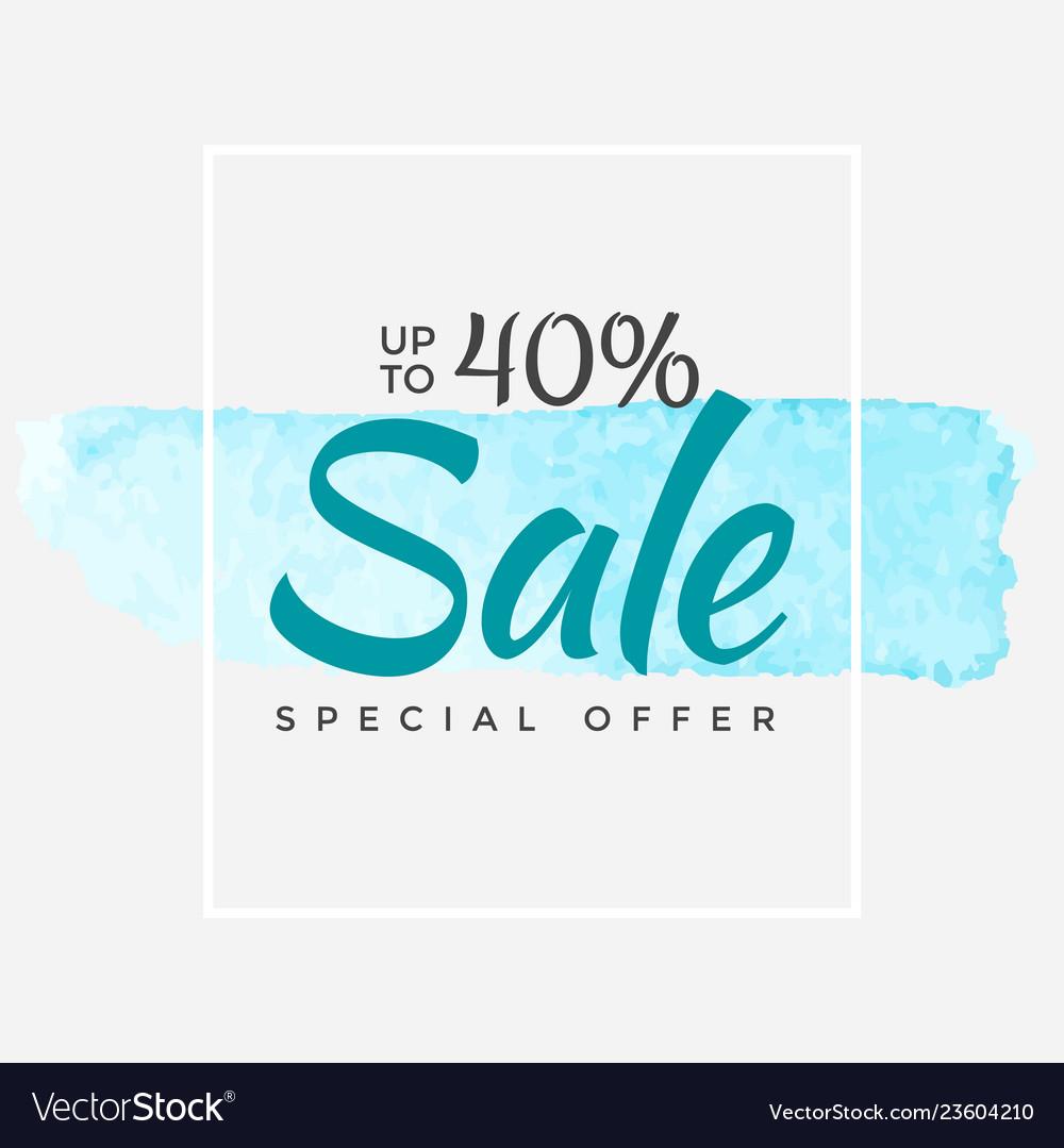 Watercolor special offer super sale flyer banner
