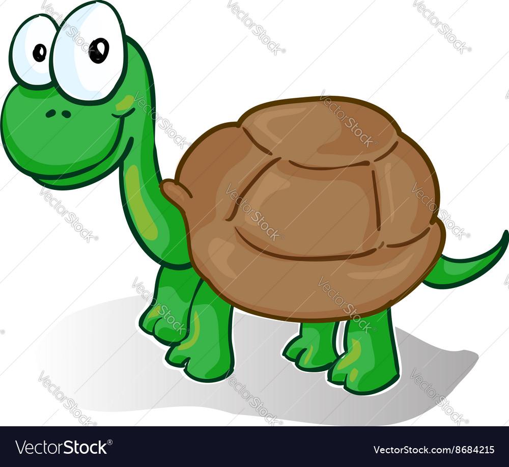 A smiling cartoon turtle