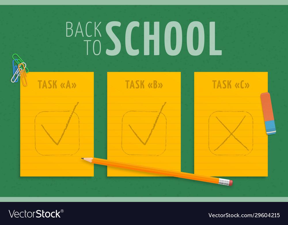 Back to school three orange stripes paper