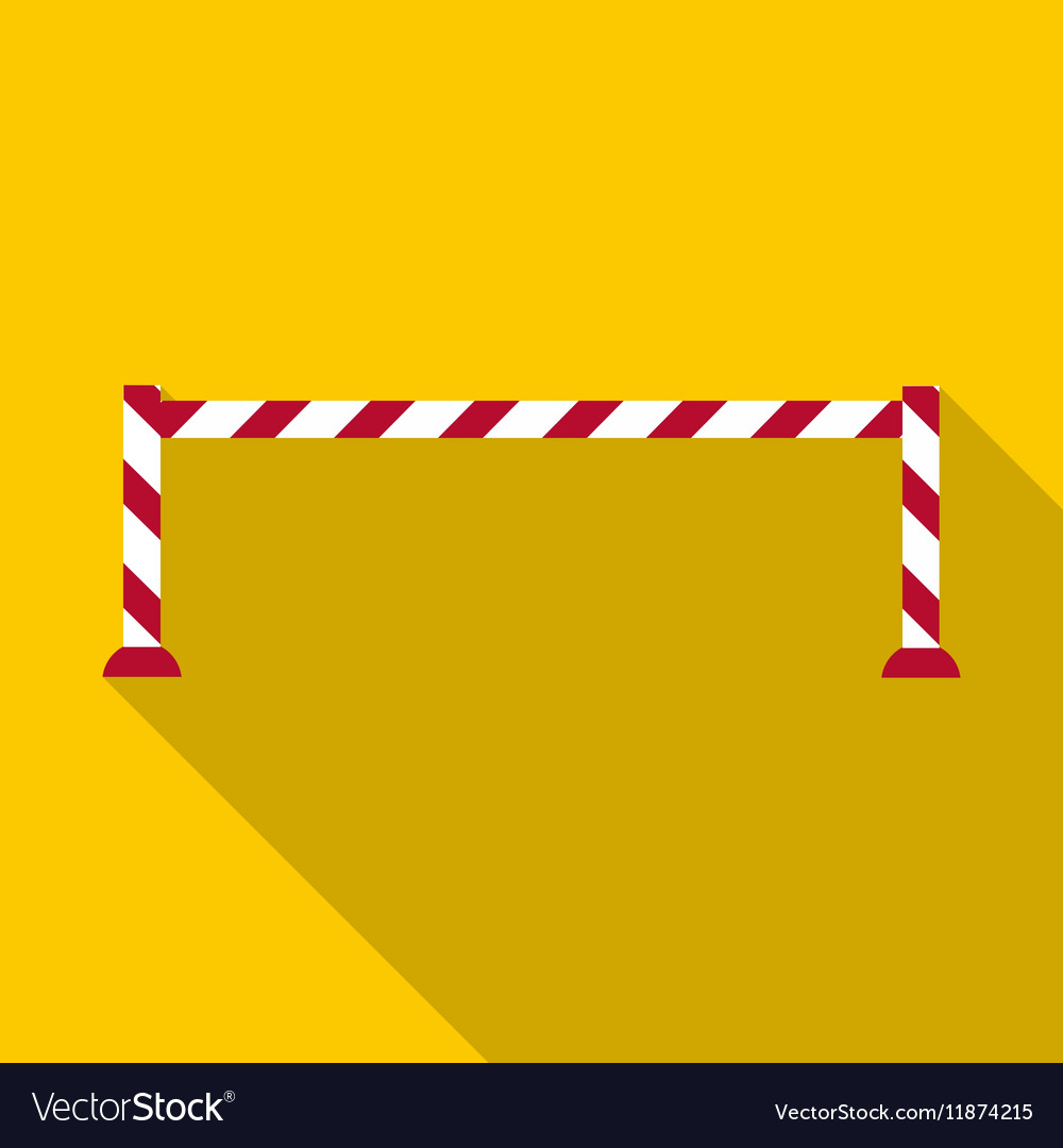 Barrier icon flat style vector image