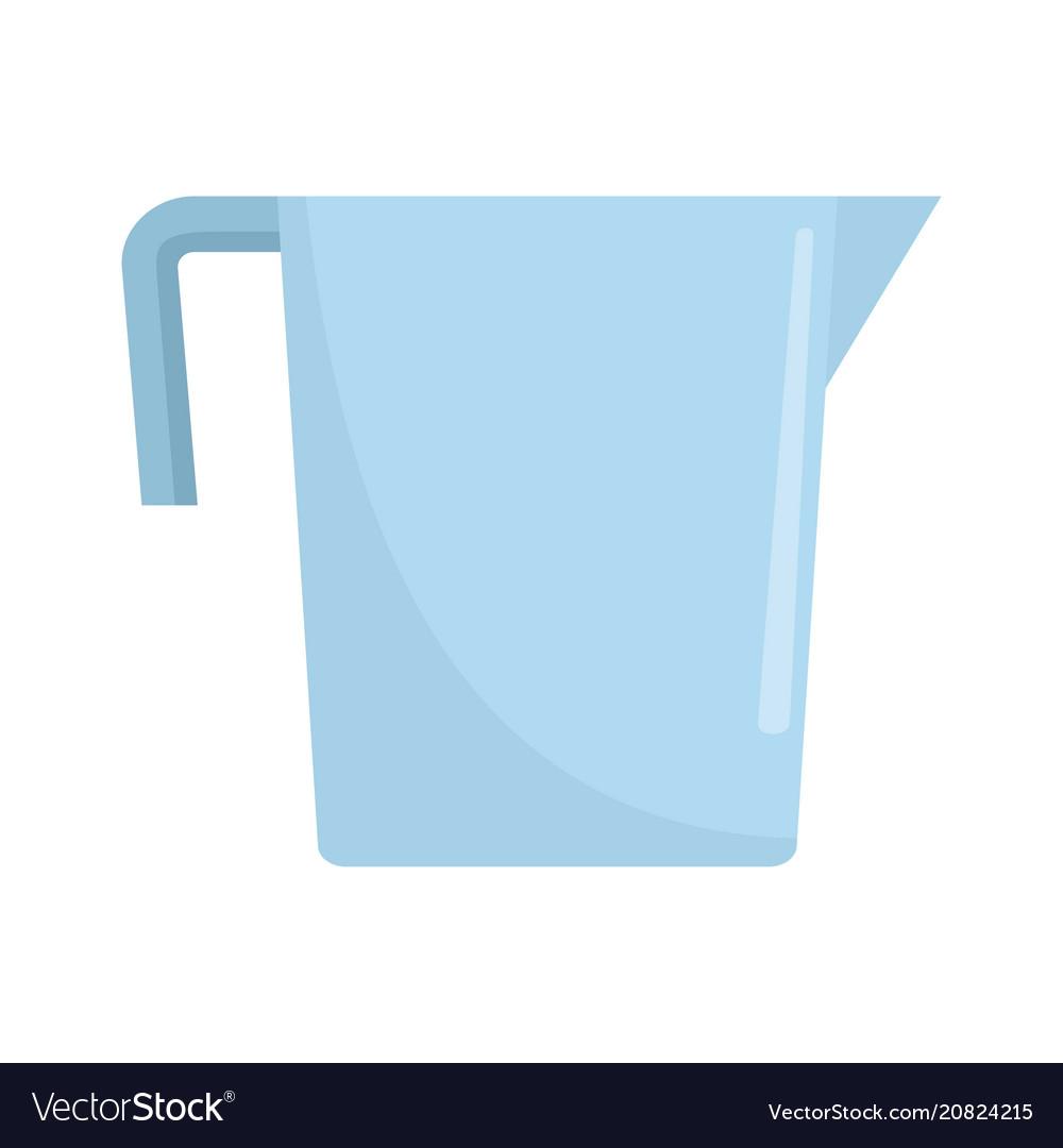 Beaker icon flat style