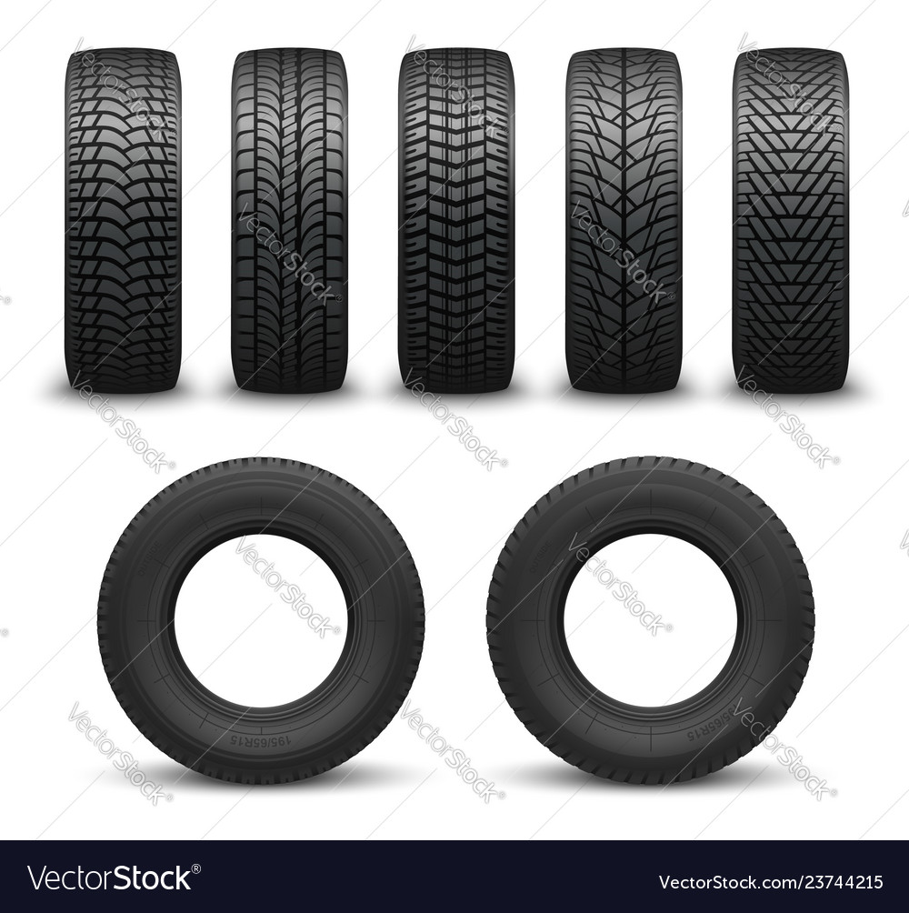 Car wheel tires or tyres 3d spare parts