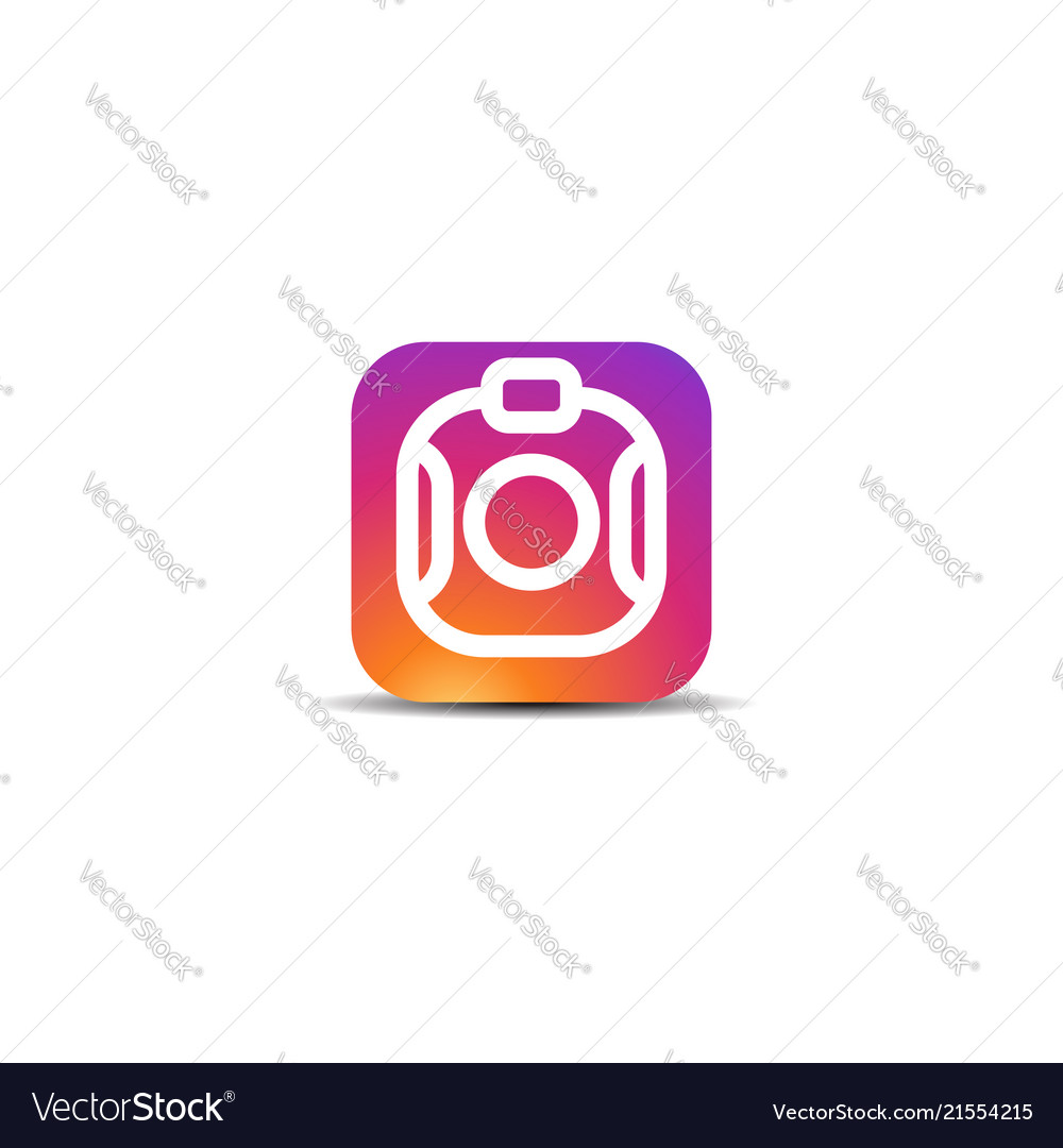 Colorful camera icon logo