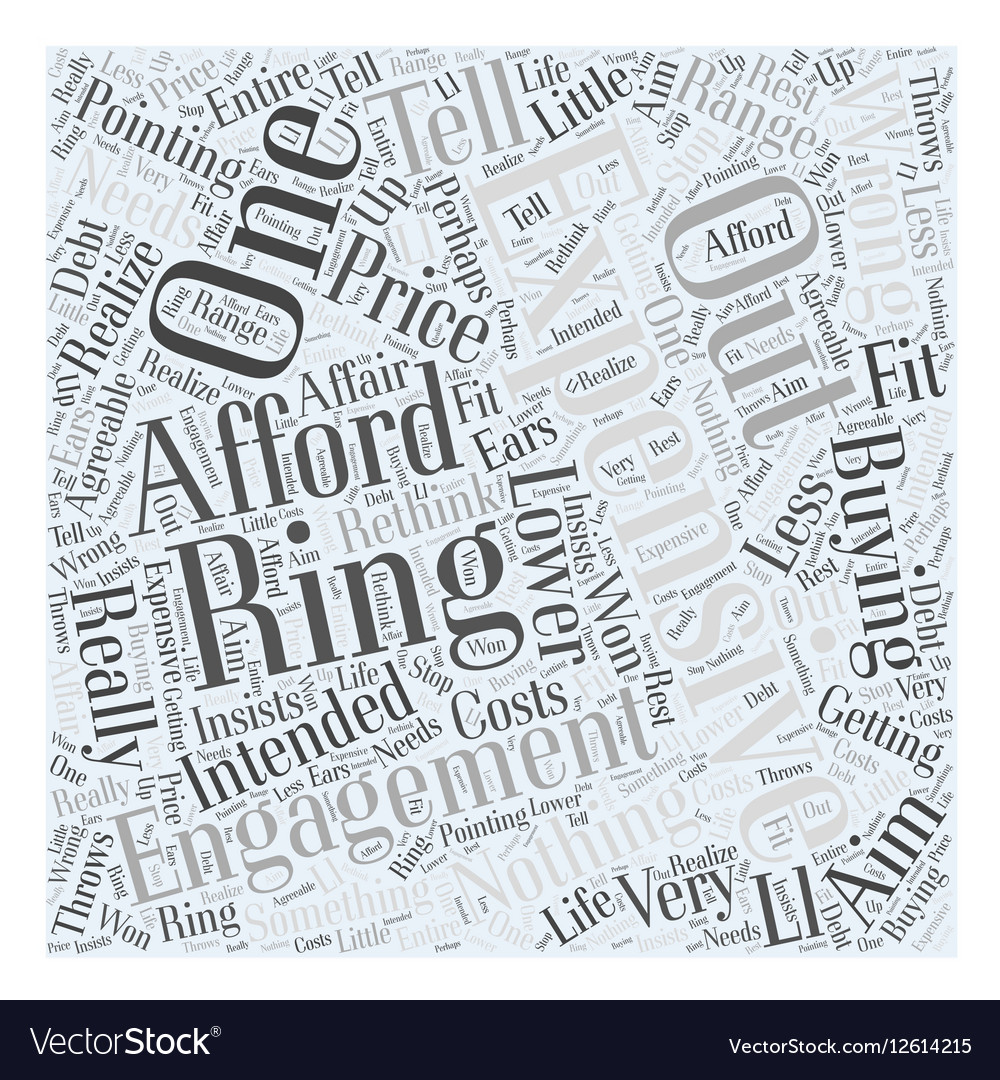 Expensive engagement ring Word Cloud Concept vector image