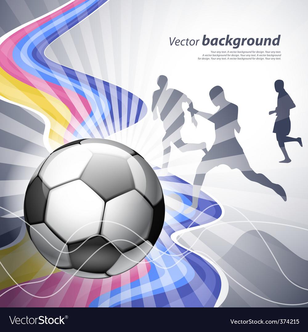 football poster royalty free vector image vectorstock