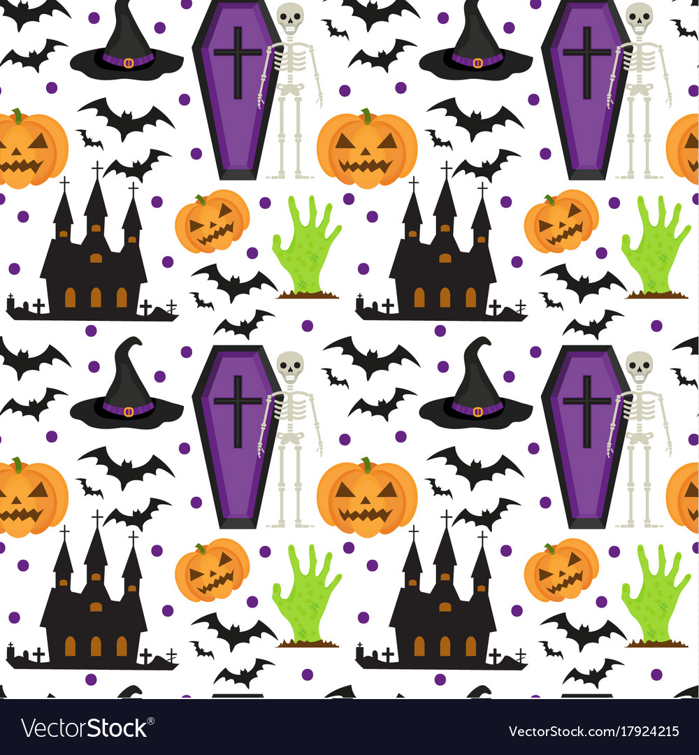Halloween seamless pattern scary repeating
