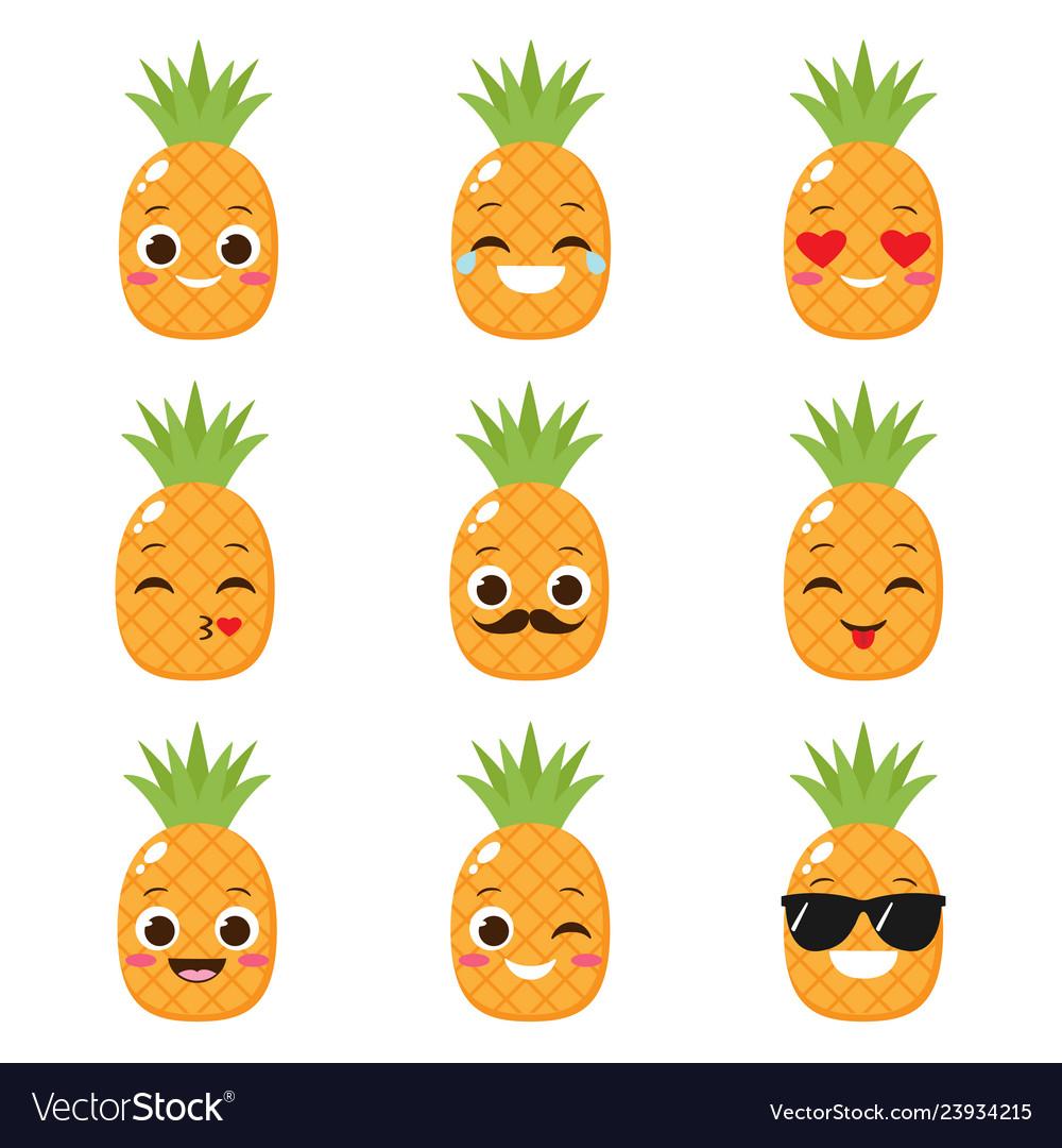Orange cartoon tangerine