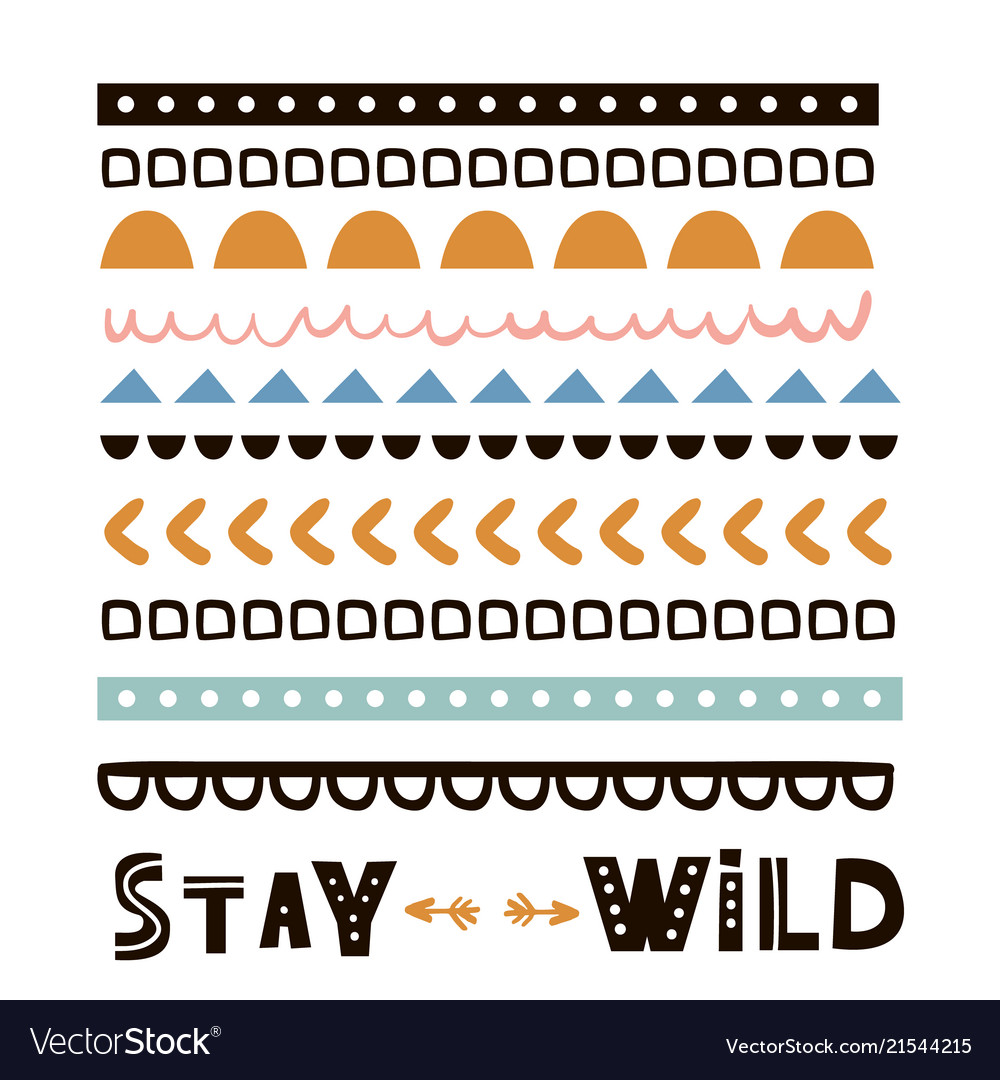 Stay wild quote design t-shirt print tribal