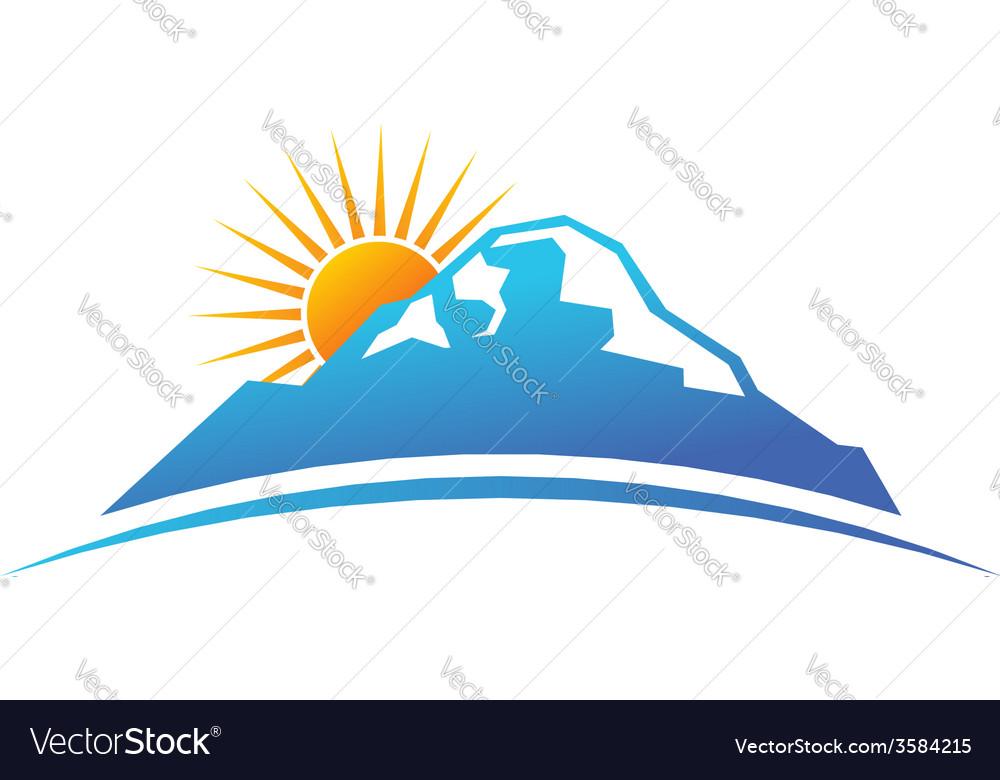Sunny mountain logo