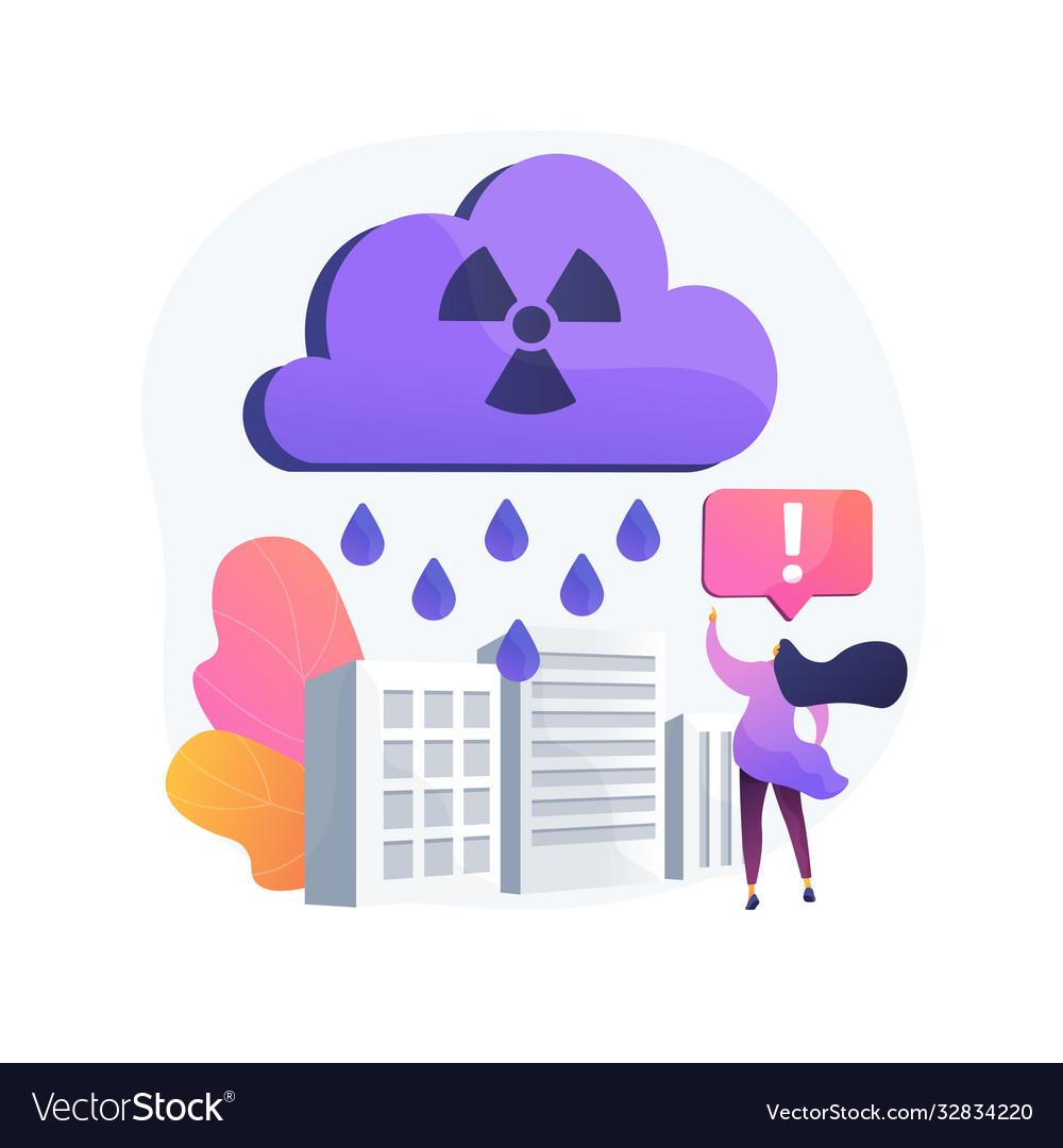 Acid rain abstract concept