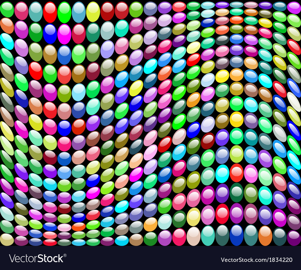 Background with a wave of circles