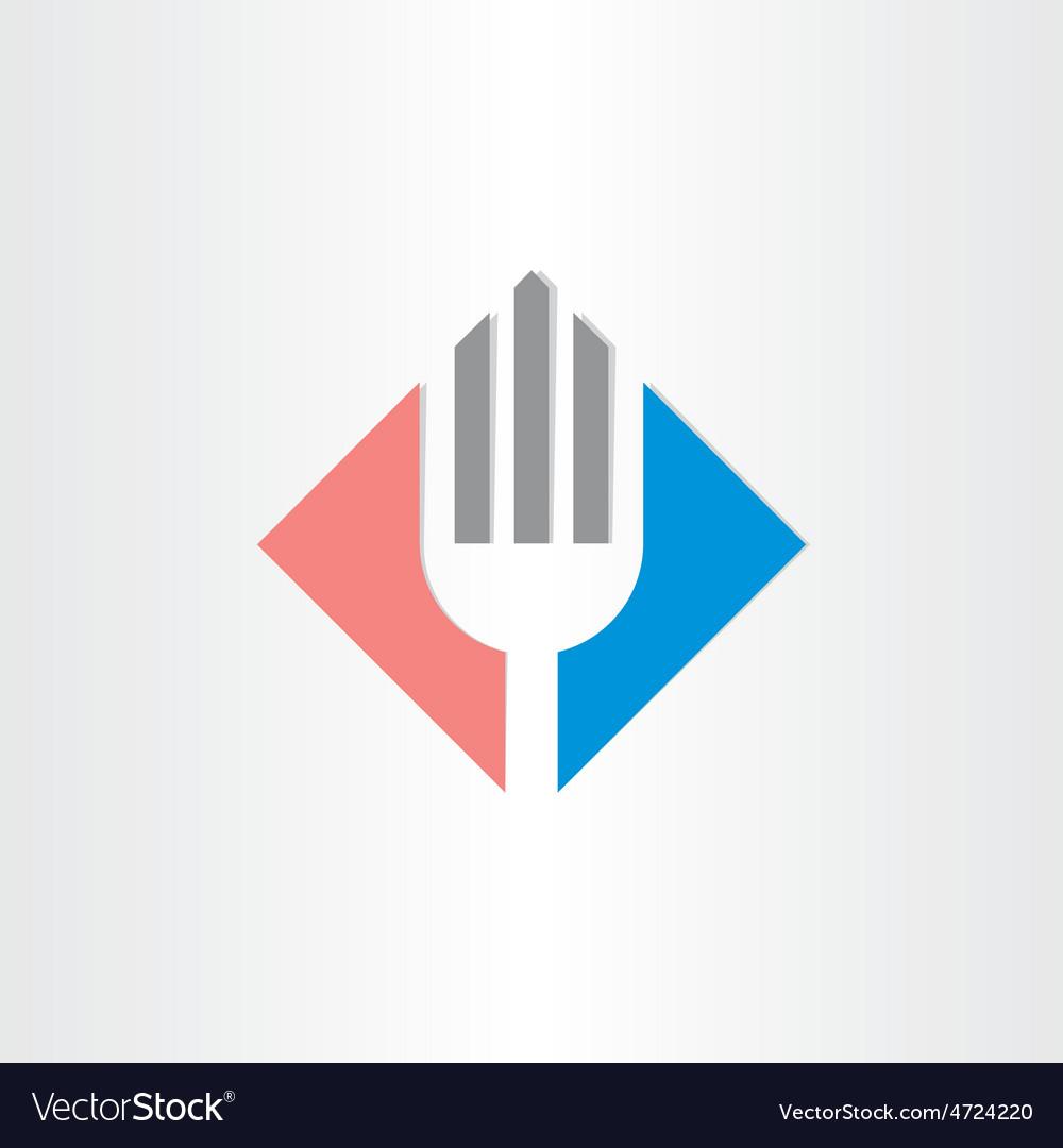 Fork icon restorant catering symbol vector image