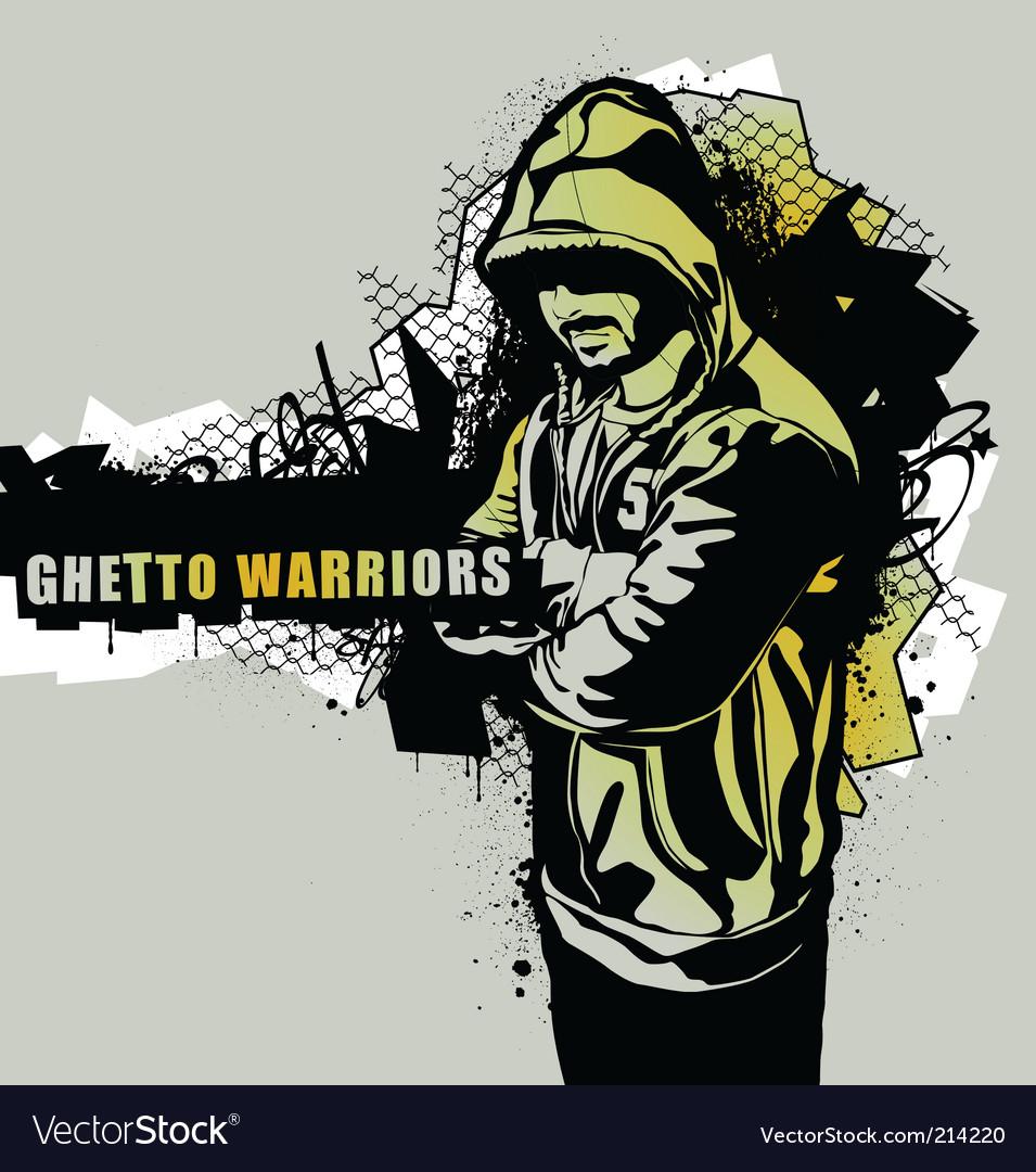 Ghetto warriors vector image