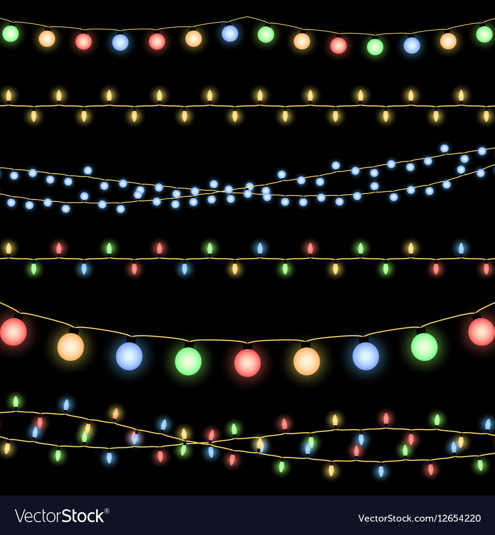 Glowing Christmas garlands background