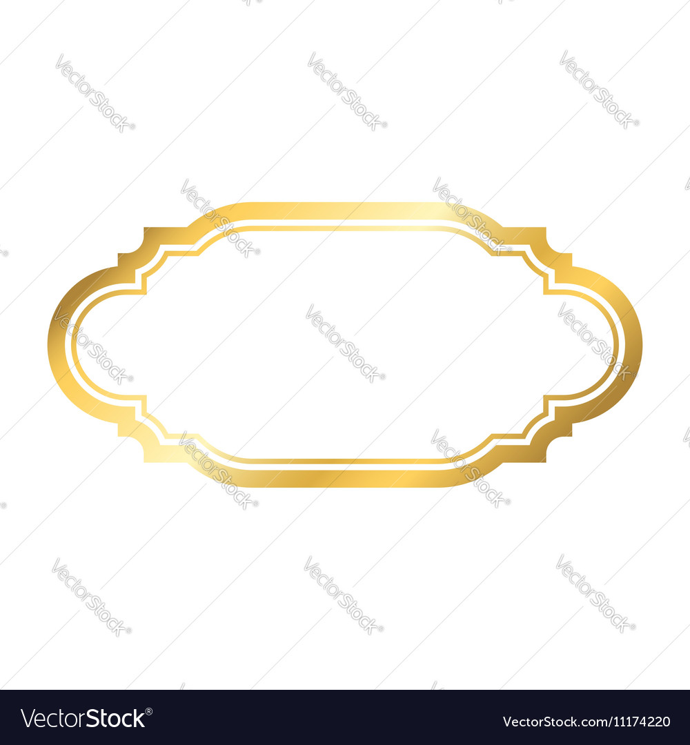 Gold frame simple golden style white