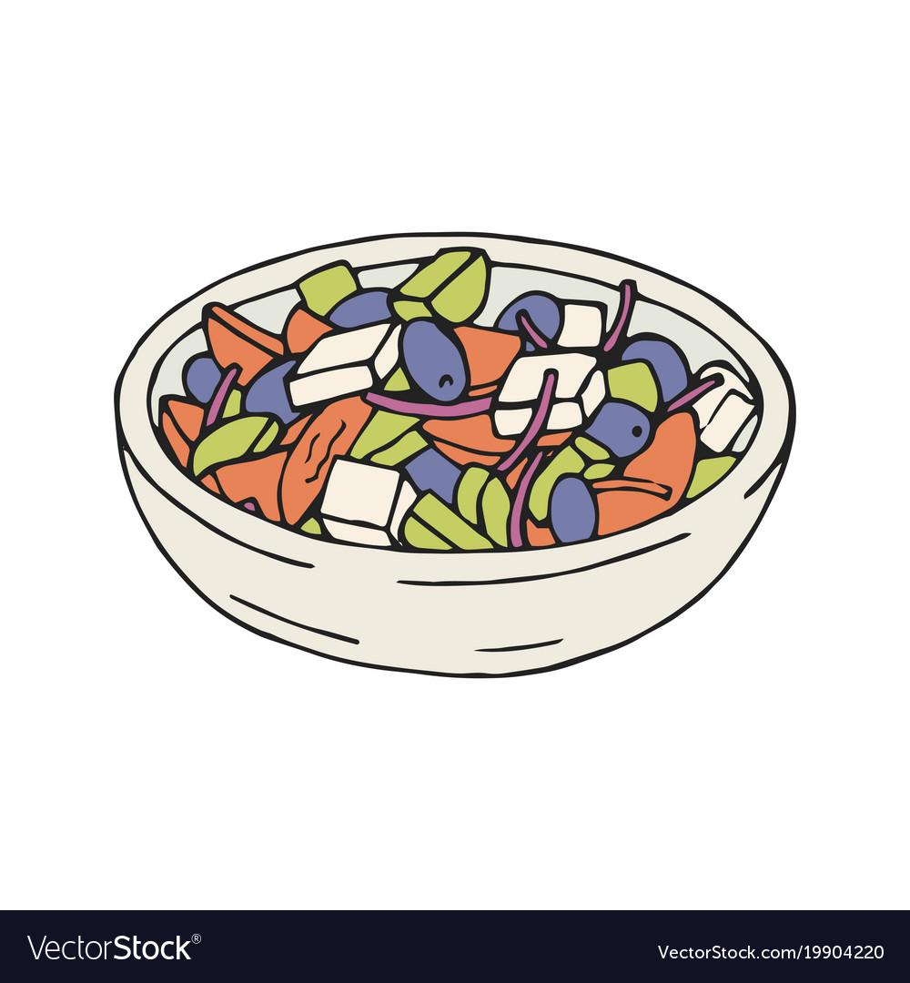Greek salad in plate