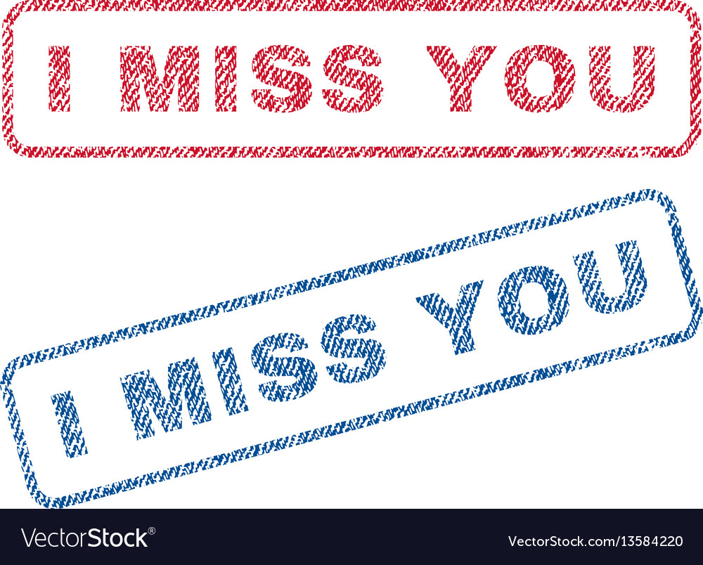 I miss you textile stamps vector image