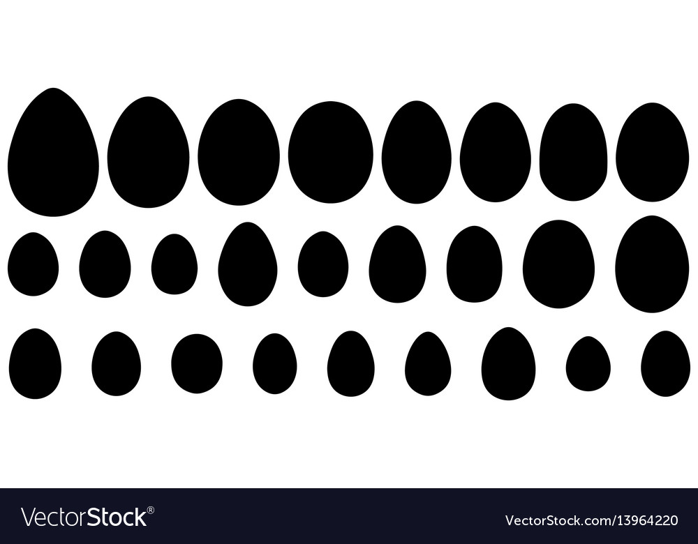 Set of eggs of different birds and reptiles vector image