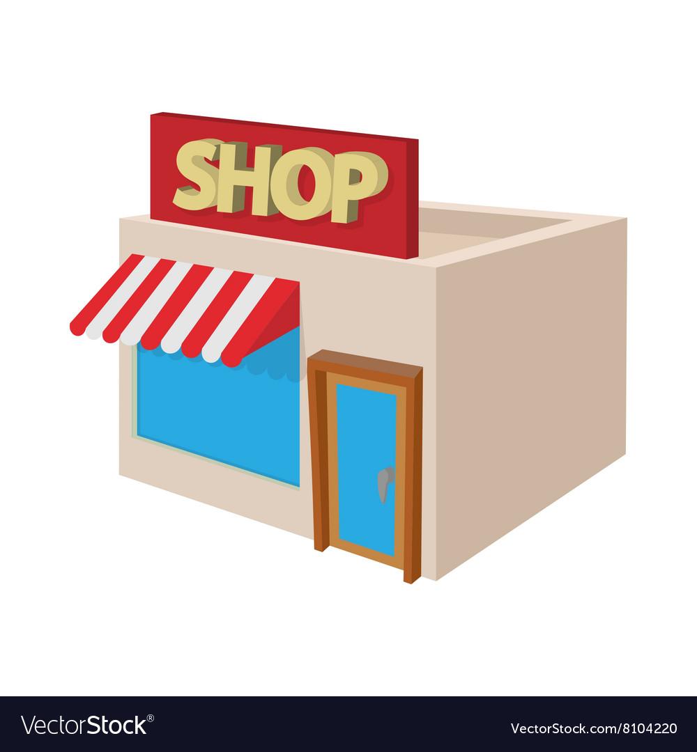 Shop building icon cartoon style