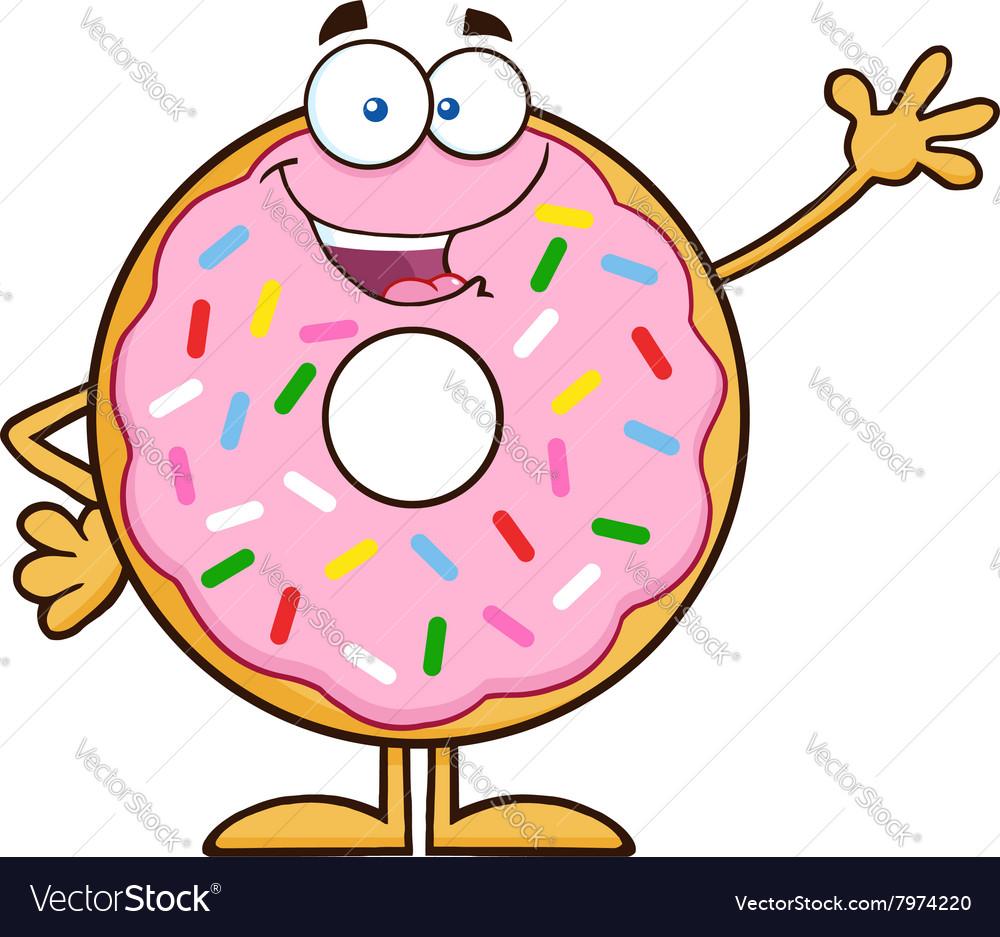 waving donut cartoon royalty free vector image rh vectorstock com cartoon vector stock cartoon vector stock