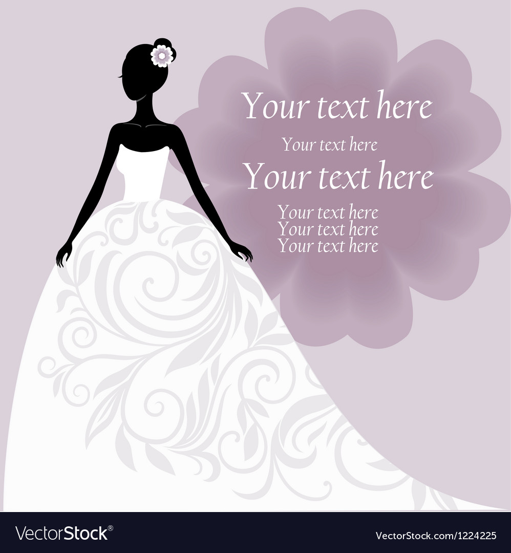 Bride In A White Wedding Dress Royalty Free Vector Image
