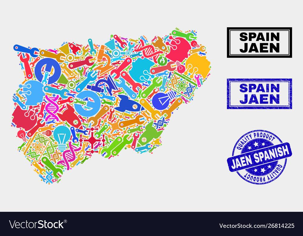 Map Of Spain Jaen.Collage Technology Jaen Spanish Province Map