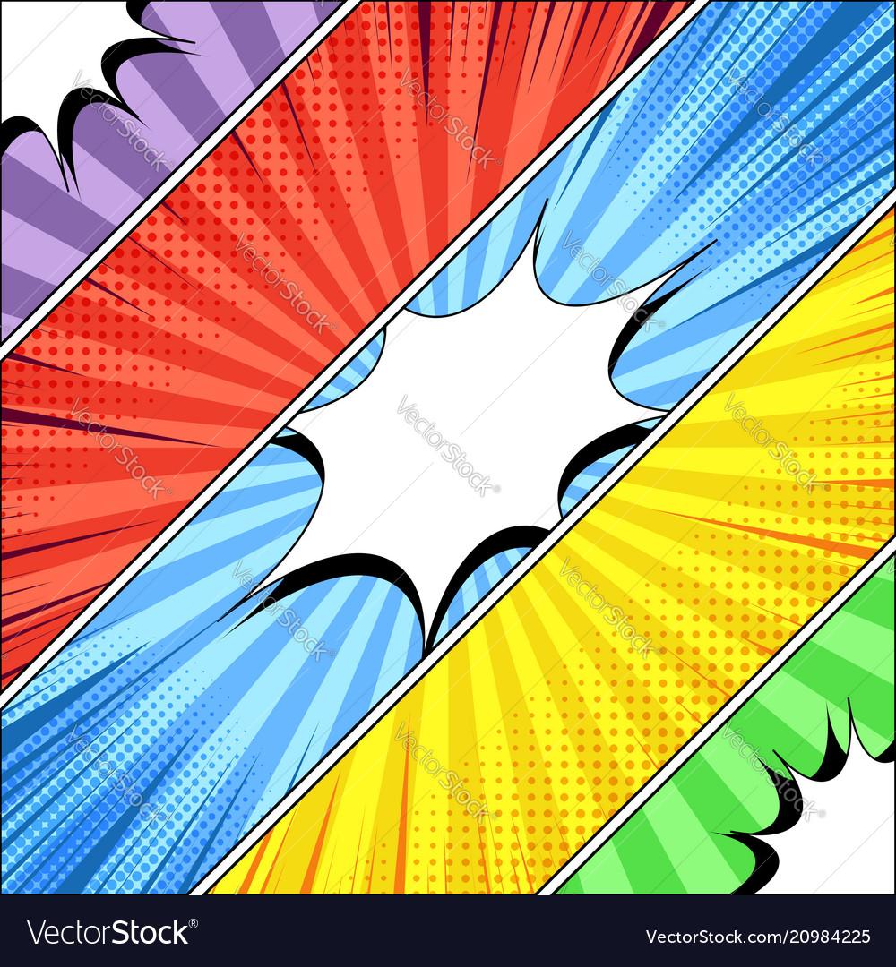 Comic book diagonal banners