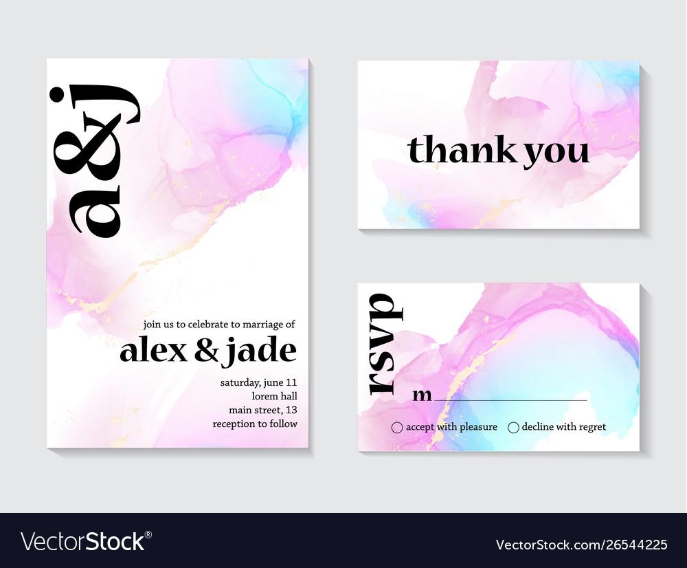 Contrast holographic wedding invitation design