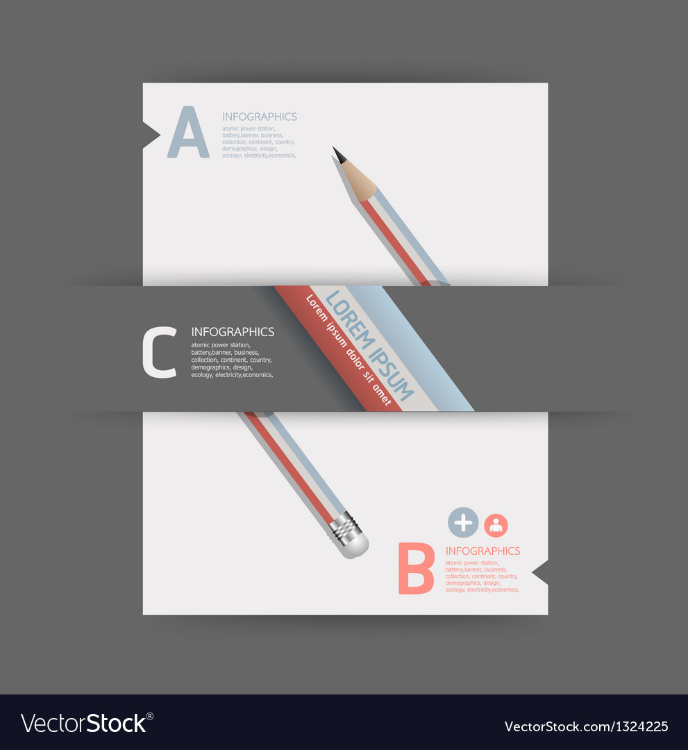 Creative Template with pencil banner