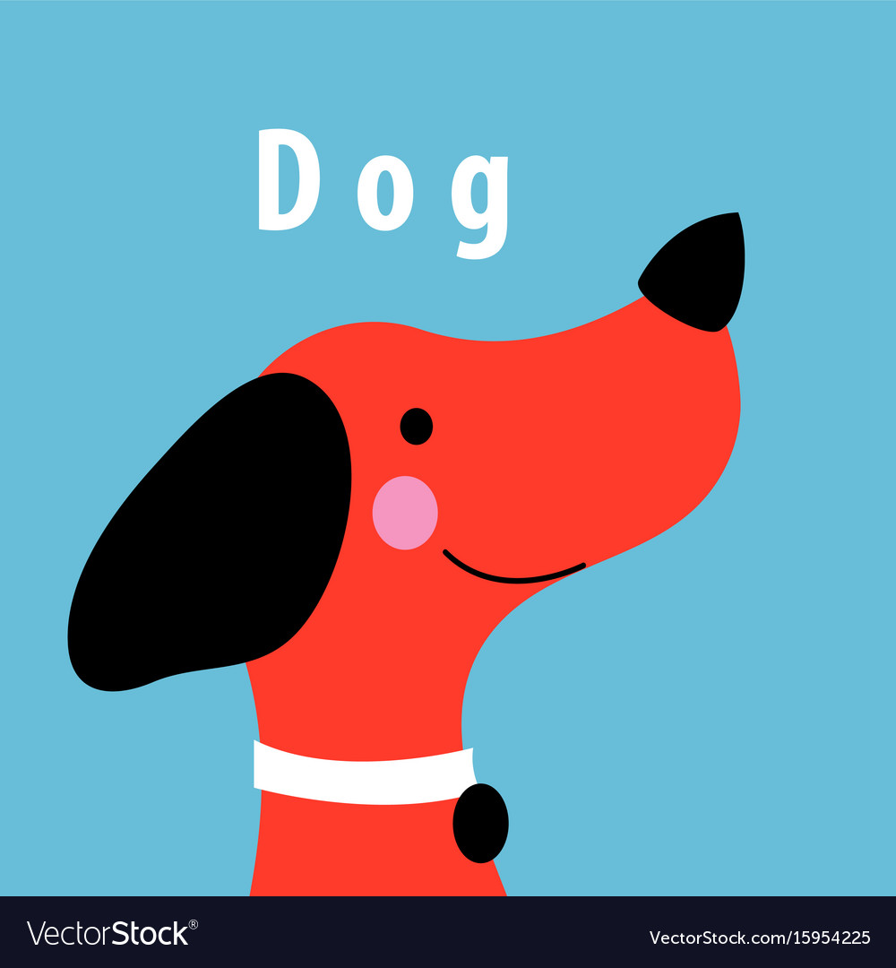 Graphics portrait of a red dog